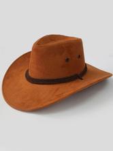 Anime Costumes AF-S2-573013 Halloween Tan Cowboy Denim Cosplay Hat for Men&Women