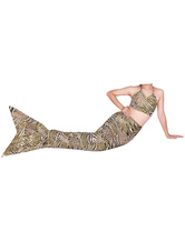 Anime Costumes AF-S2-573333 Halloween Multicolor Print Trendy Lycra Spandex Tail Mermaid Animal Zentai