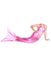 Anime Costumes AF-S2-573299 Halloween Pink Shiny Metallic Tail Mermaid Animal Zentai