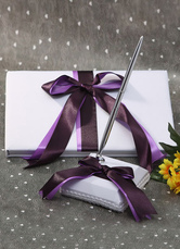 Multicolor Bows Ribbons Wedding Books and Pens