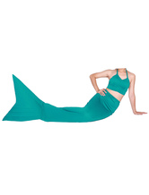 Anime Costumes AF-S2-573335 Halloween Green Lycra Spandex Tail Mermaid Trendy Animal Zentai