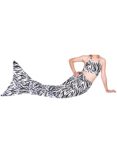 Anime Costumes AF-S2-573325 Halloween Two-Toned Print Lycra Spandex Tail Mermaid Animal Zentai