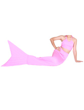 Anime Costumes AF-S2-573307 Halloween Light Pink Lycra Spandex Tail Mermaid Animal Zentai