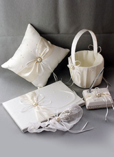 Ivory Bows Ribbons Wedding Flowers Collection Set
