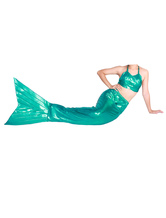 Anime Costumes AF-S2-573301 Halloween Green Shiny Metallic Tail Mermaid Trendy Animal Zentai