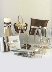 Chocolate Bows Ribbons Wedding Flowers Collection Set