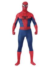Anime Costumes AF-S2-573973 Halloween Two-Toned Spiderman Costume Cosplay Superhero Lycra Spandex Zentai Suit