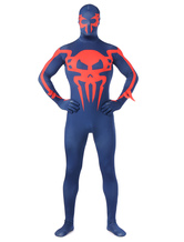 Anime Costumes AF-S2-573975 Halloween Full Body Two-Toned Devil Superhero Costume Cosplay Lycra Spandex Zentai Suit