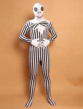 Anime Costumes AF-S2-573957 Halloween Black&White Gentleman Skull&Monster Lycra Spandex Zentai