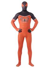 Anime Costumes AF-S2-573971 Halloween Orange Spiderman Lycra Spandex Zentai
