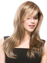 Flaxen Curly Women's Long Wig