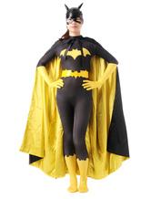 AF-S2-573963 Halloween Color Block Batman Lycra Spandex Zentai