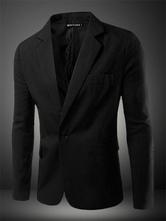 Men Blazer Casual 2019 Blazer For Men Single Button Notch Collar Long Sleeve Suit Jacket