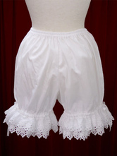 Cotton Lolita Bloomers Hohl Trim-Bogen-Band für Frauen in  Weisse