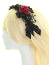 Lolitashow ロリィタ髪飾り マルチカラー 可愛い レース シンセティック(合成素材) ダンスパーティー