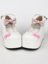 Dos tonos arcos PU Lolita zapatos para las mujeres KxXXV