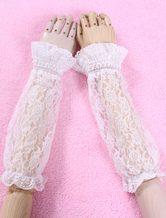 White Lace Synthetic Lolita Oversleeves