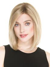 AF-S2-576497 Light Gold Short Bobs Woman's Medium Wig