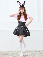Anime Costumes AF-S2-576675 Halloween Two-Toned Ruffles Polyester Sexy Bunny Costume for Women