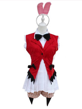 Anime Costumes AF-S2-576693 Halloween Red Bow Tie Polyester Sexy Bunny Costume for Women