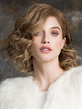 AF-S2-576485 Flaxen Short Curly Woman's Medium Wig