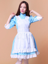 Anime Costumes AF-S2-576725 Color Block Ruffles Chic Cotton Maid Costume for Women