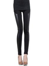 Nero Spandex Leggings Fit Slim per le donne