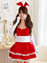 Anime Costumes AF-S2-576685 Halloween Red Sash Polyester Sexy Bunny Costume for Women