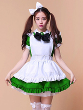 Anime Costumes AF-S2-576723 Multicolor Ruffles Bows Cotton Maid Costume for Women
