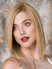 AF-S2-576483 Light Gold Short Bobs Woman's Medium Wig