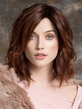 AF-S2-576499 Mahogany Wave Bobs Woman's Medium Wig