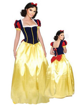 Halloween Multicolor Snow White Polyester Princess Costume for Women Halloween