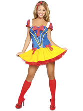 Anime Costumes AF-S2-577157 Halloween Multicolor Bows Polyester Cute Princess Costume for Women