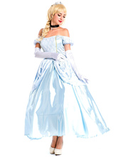 Anime Costumes AF-S2-577159 Halloween Blue Off-the Shoulder Polyester Sexy Princess Costume for Women