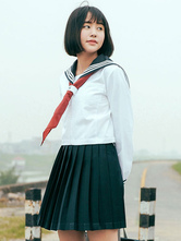 AF-S2-578473 Green Tie School Cloth Uniform Costume