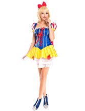 Anime Costumes AF-S2-577167 Halloween Multicolor Ruffles Polyester Cute Princess Costume for Women