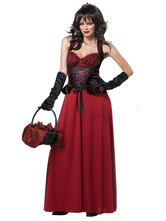 Anime Costumes AF-S2-577131 Halloween Red Ruffles Chic Polyester Princess Costume for Women
