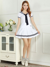 AF-S2-578465 White Tie School Cloth Uniform Costume