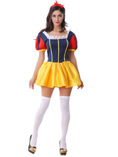 Anime Costumes AF-S2-577143 Halloween Multicolor Ruffles Polyester Sexy Princess Costume for Women