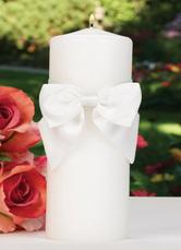 WaWhite Wachs Kerze mit Elfenbein Bogen Hochzeitsbevorzugungen