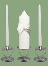 Weißes Wachs Kerze mit Multifunktionsleiste schicke Bow Hochzeitsbevorzugungen