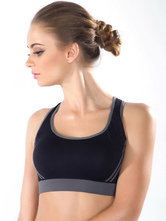 2c921a0f2d Two-Tone Cross Back Polyester Sports Bra for Women - Milanoo.com