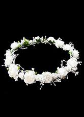 Elfenbein Blumen schicke Hochzeit Floral Krone für Frauen