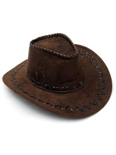 Anime Costumes AF-S2-579323 Halloween Brown Cowboy Synthetic Cosplay Cap