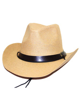 Anime Costumes AF-S2-579321 Halloween Beige Cowboy Synthetic Cosplay Cap