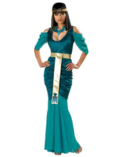 Anime Costumes AF-S2-579825 Halloween Green Egyptian Cleopatra Dress Game of Thrones Polyester Costume Cosplay