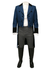 Anime Costumes AF-S2-579997 Victorian Gray Buttons Synthetic Pants Pageant Costumes For Men