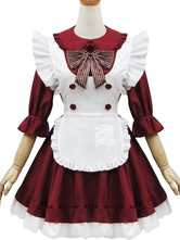 Anime Costumes AF-S2-580245 Two-Tone Bow Chic Lolita Cotton Maid Costume