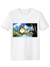 White Totoro Anime Print Synthetic T-Shirt  Halloween