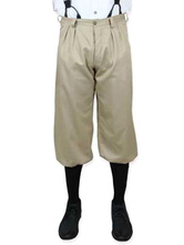 Anime Costumes AF-S2-579995 Victorian Beige Cotton Pants Pageant Costumes For Men